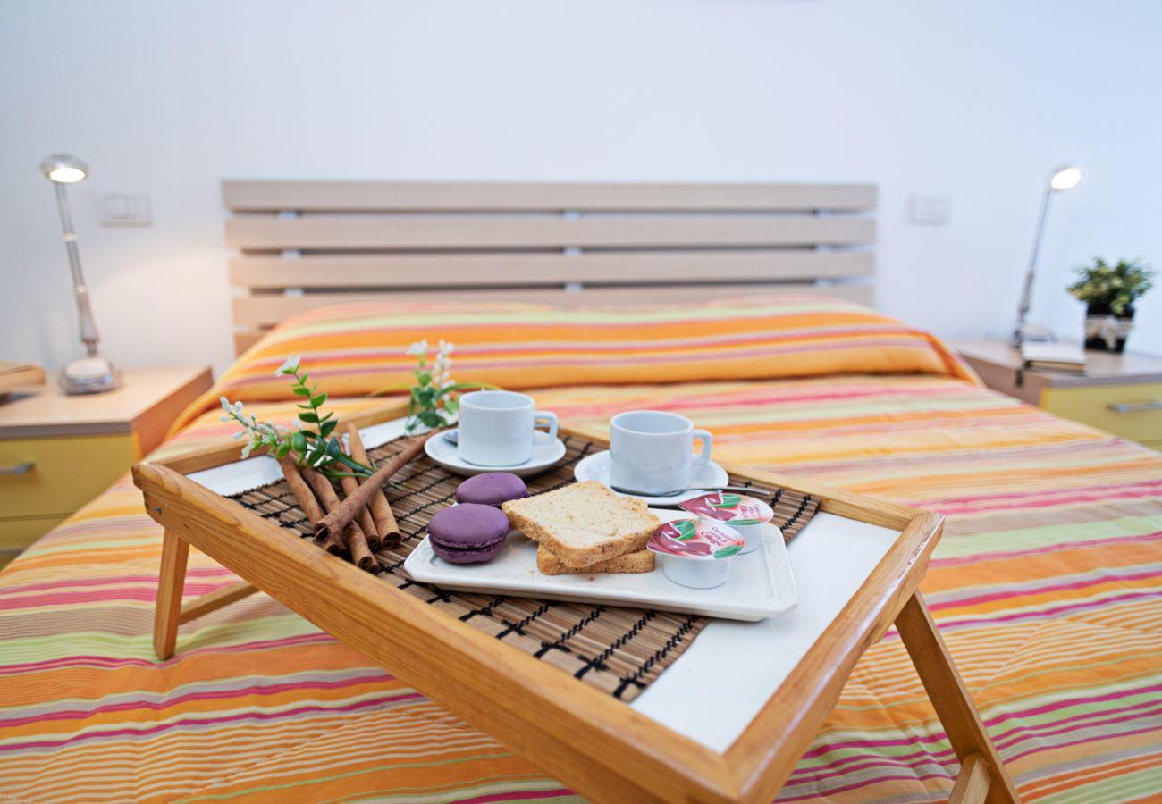 Ferienwohnung in Lazise - Regarda – Wohnung Miralago in Lazise mit privat Garten, Pool, Hund erlaubt